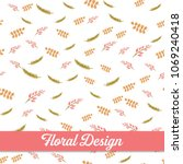 beautiful floral design. vector ... | Shutterstock .eps vector #1069240418