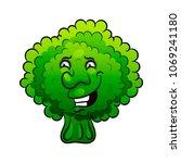 artistic hand drawn broccoli... | Shutterstock .eps vector #1069241180