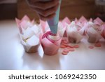 cupcakes decorated cream. the... | Shutterstock . vector #1069242350
