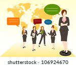 business chat concept | Shutterstock .eps vector #106924670