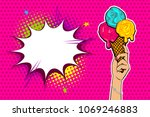 comic book text summer hold on. ... | Shutterstock .eps vector #1069246883