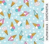 vector seamless cartoon ice... | Shutterstock .eps vector #1069246916