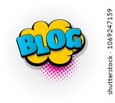 blog blogger hand drawn... | Shutterstock .eps vector #1069247159
