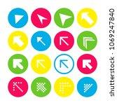 set of 16 arrow icons. arrow... | Shutterstock .eps vector #1069247840