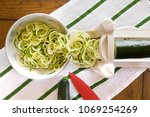 spiral zucchini noodles called...   Shutterstock . vector #1069254269