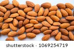 raw natural organic almonds... | Shutterstock . vector #1069254719