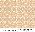 folk pattern  traditional... | Shutterstock .eps vector #1069258220