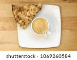 top view of white coffee cup... | Shutterstock . vector #1069260584