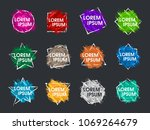 set abstract colorful grunge... | Shutterstock .eps vector #1069264679