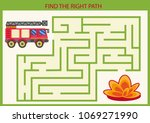 find the right path for fire... | Shutterstock .eps vector #1069271990