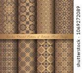 vector arabesque patterns.... | Shutterstock .eps vector #1069272089