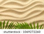 summer background with green... | Shutterstock . vector #1069272260