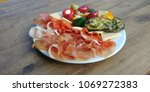 different appetizer on wood...   Shutterstock . vector #1069272383