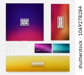 abstract design set   banners ... | Shutterstock .eps vector #1069278284