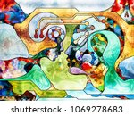 stained glass forever series.... | Shutterstock . vector #1069278683