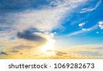 sunset paradise evening scene  | Shutterstock . vector #1069282673