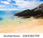 windy holiday on a beach  | Shutterstock . vector #1069282709