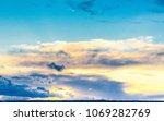 setting sun skies view  | Shutterstock . vector #1069282769