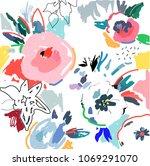 creative universal artistic... | Shutterstock .eps vector #1069291070