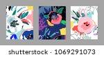 creative universal artistic... | Shutterstock .eps vector #1069291073