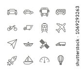 transport set icon vector.... | Shutterstock .eps vector #1069293263