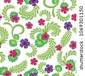 a simple floral pattern ... | Shutterstock .eps vector #1069301150