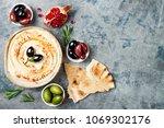 homemade hummus with paprika ... | Shutterstock . vector #1069302176