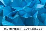 blue crystal background.  3d...   Shutterstock . vector #1069306193