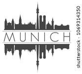 munich germany skyline vector... | Shutterstock .eps vector #1069314350