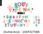 kids flat alphabet set   love...   Shutterstock .eps vector #1069327088