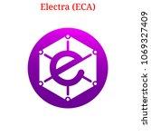 vector electra  eca  digital...   Shutterstock .eps vector #1069327409