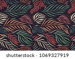 vector seamless pattern with...   Shutterstock .eps vector #1069327919