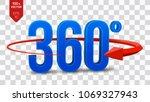 360 degrees sign. 3d isometric... | Shutterstock .eps vector #1069327943