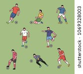 the various positions of the... | Shutterstock .eps vector #1069328003