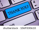 writing note showing  thank you ... | Shutterstock . vector #1069330610
