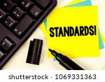 writing note showing  standards ... | Shutterstock . vector #1069331363