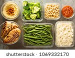 grilled chicken meal prep with... | Shutterstock . vector #1069332170