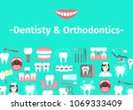banner of dental cabinet with... | Shutterstock .eps vector #1069333409