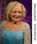 Small photo of SAN FRANCISCO CA USA APRIL 15 2015: Betty White wax figure in exhibition at the Madame Tussauds Wax Museum in San Francisco Landmark of Madame Tussauds exhibits wax figures of famous people
