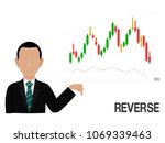an investor is presenting... | Shutterstock .eps vector #1069339463