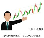 an investor is presenting up... | Shutterstock .eps vector #1069339466