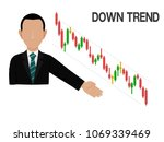 an investor is presenting down... | Shutterstock .eps vector #1069339469