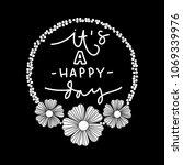 it is a happy day. modern...   Shutterstock . vector #1069339976