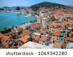 split waterfront and marian... | Shutterstock . vector #1069342280