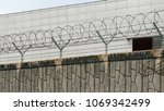 barbed wire entanglement on a... | Shutterstock . vector #1069342499