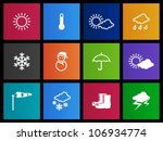weather icon series in metro...