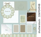 scrapbook elements. vector... | Shutterstock .eps vector #106934948