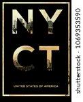 new york typography t shirt... | Shutterstock . vector #1069353590