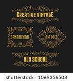 vintage beauty retro ornament... | Shutterstock .eps vector #1069356503