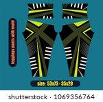 legging pants fashion... | Shutterstock .eps vector #1069356764